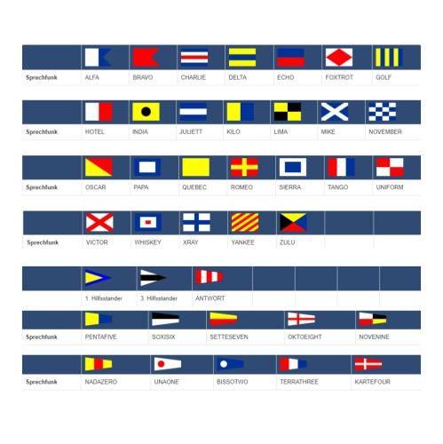 Signalflagge 30 x 45 cm - einzeln