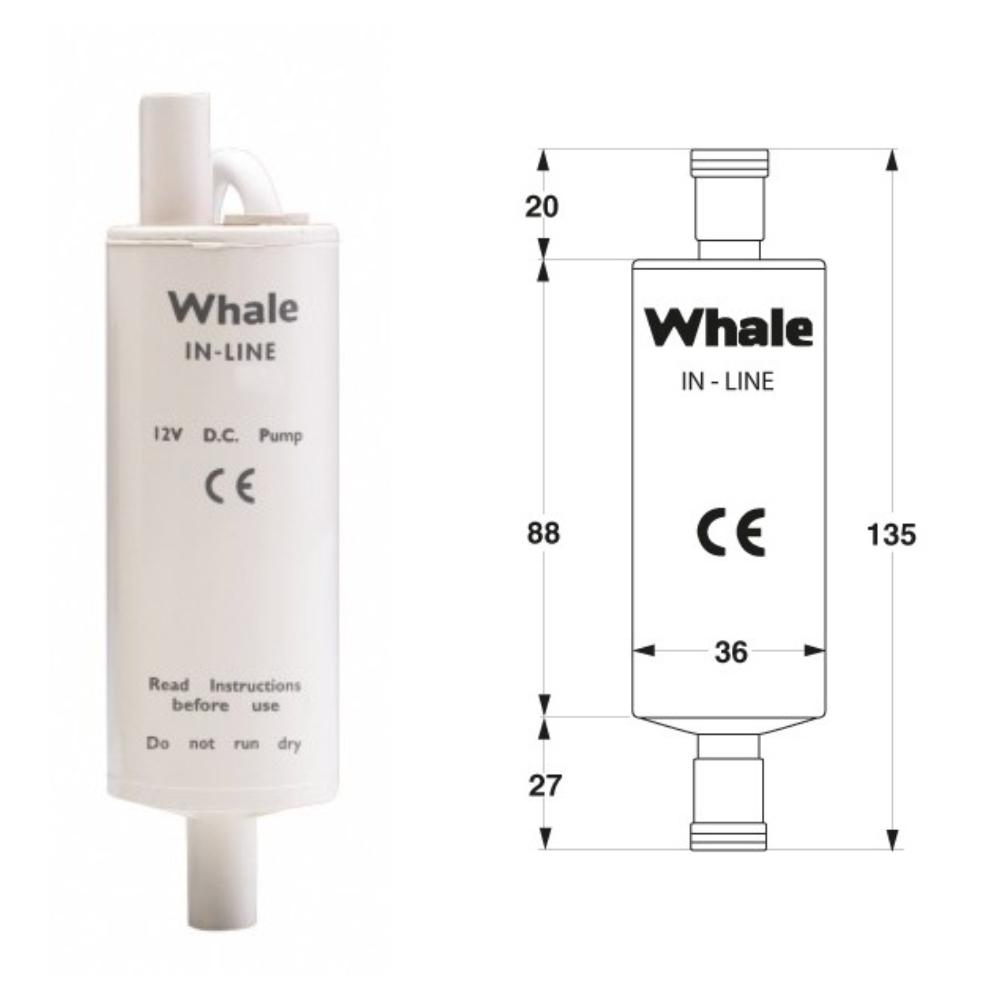 Whale Inline Verstärkerpumpe