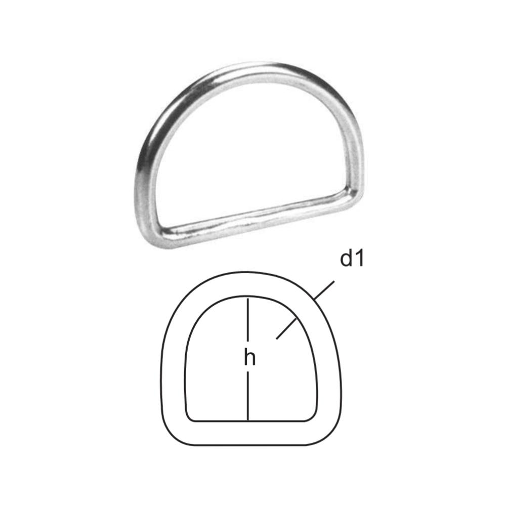 D-Ring - Edelstahl