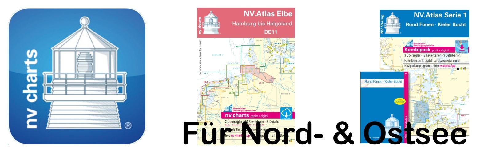 Seekartensätze von NV-Verlag, für Nord- &
